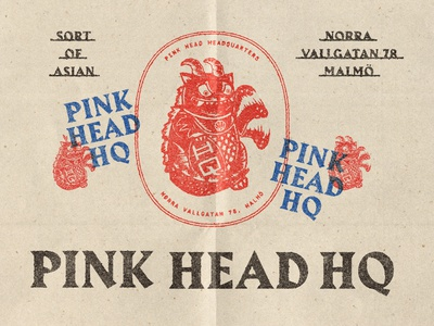 Pink Head HQ - Extended brand elements