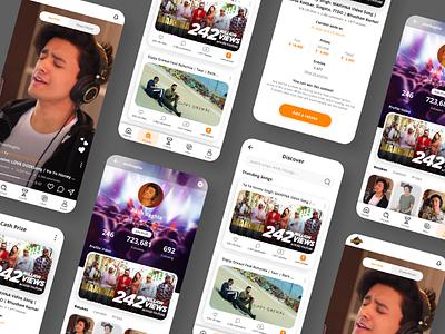 Music Contest App tiktok music music app ui design mobile app
