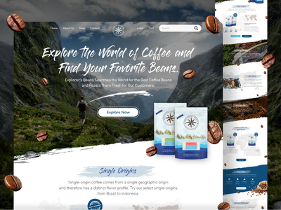 Coffee Bean Shop Landing Page coffee coffeeshop ui design website design uiuxdesign landingpage
