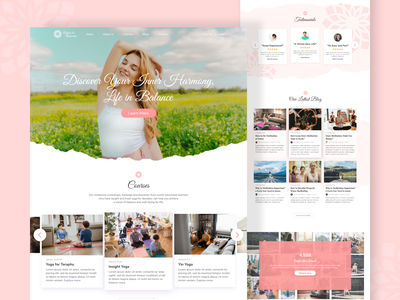 Meditation and Beauty - Landing Page website design beauty meditation website meditation app uidesign uiux design landing page design