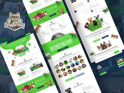DoggieBag (Dog Box) - Landing Page vibrant dogbox dog ui design uiux web design landing page design