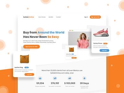 SoltekOnline Landing Page Re-Design website ui design uiux design marketplace redesign concept web design landingpagedesign