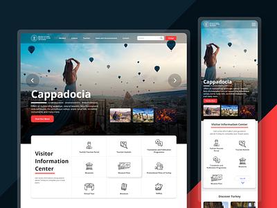 Tourism and Culture Website Redesign ui design uiux design tourism app tourism website responsive design web design landing page design