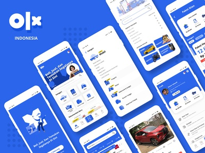 OLX Indonesia App uiux ui mobile app blue redesign concept olx ui design