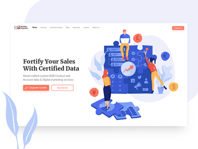 Market Republic Homepage marketing agency website business creative creative services professional uiux sales data illustration landing page design digital marketing consulting advertising outsourcing growth digital social media