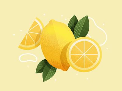 Lemons icon flat yellow fruits lemon illustration