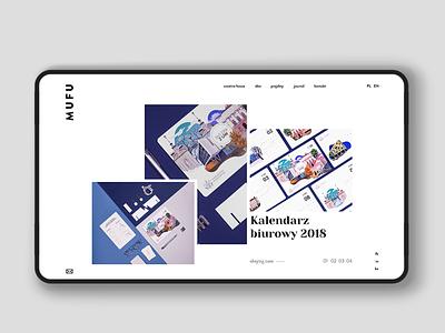 MUFU portfolio uidesign webdesign website web ui design