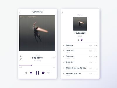 Daily UI challenge #9/100 web design music profile ui flat interface day009 app daily ui