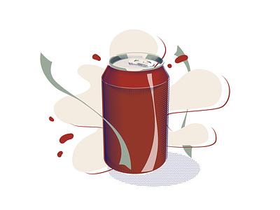 Coca cola coca-cola flat illustration vector coca cola