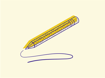 pencil isometric icon vector flat illustration
