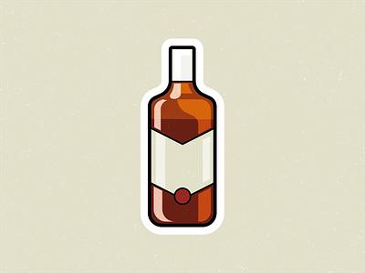 Ballantine's! alcohol bottle symbol mark logo icon vector flat illustration