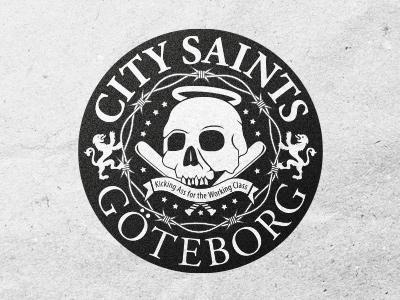 Saints 2 band logo skull