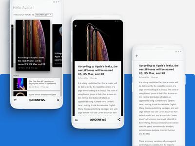 Quicknews : App Design