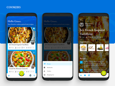 Cookers : Concept App Design