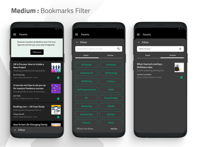 Medium : Bookmarks Filter