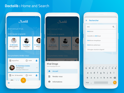 [UXC2] Doctolib : Home And Search