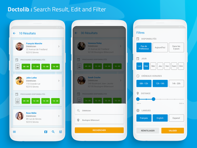 [UXC2] Doctolib : Search Edit and Filter