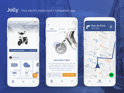 [UXC4] Jolly : Your electric motorcycle's companion