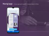 [UXC5] Navig'app : A take on Paris public transportation's offer