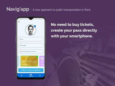 [UXC5] Navig'app : Create a pass