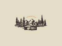 Vintage cabin icon