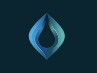 Abstract Tear Icon
