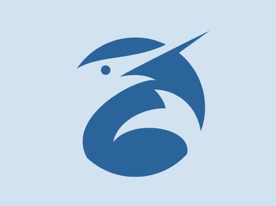 Swordfish Icon swordfish fish branding newglue animal blue creative illustrator vector graphic logo illustration icon logo mark design