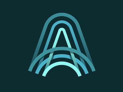 Letter A Icon typography letter branding newglue blue creative illustrator vector graphic logo illustration icon logo mark design