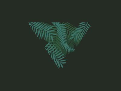 Triangle Leaves Icon leaf leaves triangle green branding newglue creative illustrator vector graphic logo illustration icon logo mark design