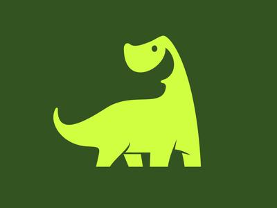 Happy Dinosaur Icon cartoon dinosaur green animal branding newglue creative illustrator vector graphic logo illustration icon logo mark design