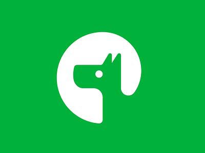 Dog Icon puppy dog cartoon animal green branding newglue creative illustrator vector graphic logo illustration icon logo mark design