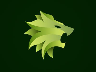 Lion Head Icon roar lion head lion animal green branding newglue creative illustrator vector graphic logo illustration icon logo mark design