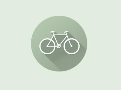 Bicycle Icon bicycle bike green branding newglue creative illustrator vector graphic logo illustration icon logo mark design