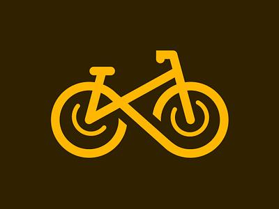 Bicycle Icon bicycle bike yellow branding newglue creative illustrator vector graphic logo illustration icon logo mark design