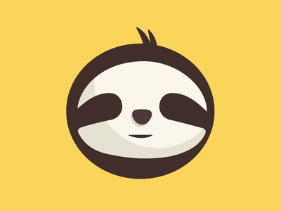 Sloth Icon sloth cartoon yellow animal branding newglue creative illustrator vector graphic logo illustration icon logo mark design