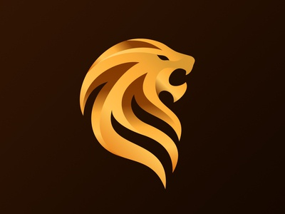 Lion Head Icon lion head lion yellow animal branding newglue creative illustrator vector graphic logo illustration icon logo mark design