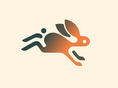 Leaping Bunny icon logomark rabbit bunny cartoon animal newglue creative illustrator vector graphic logo illustration icon logo mark design branding