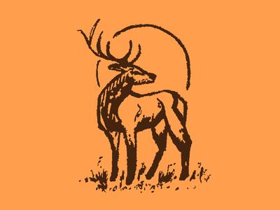 Hand-Drawn Deer Icon deer orange animal branding newglue creative illustrator vector graphic logo illustration icon logo mark design