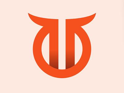 Bull Horn Icon taurus bull animal branding newglue creative illustrator vector graphic logo illustration icon logo mark design