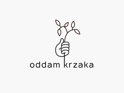 Oddam krzaka / Give back a bush logo hand flower logo bush
