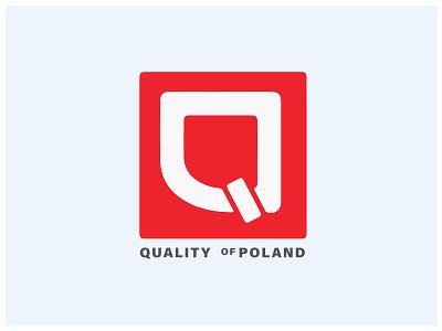Quality of Poland quality poland logotype logo design q letter logo