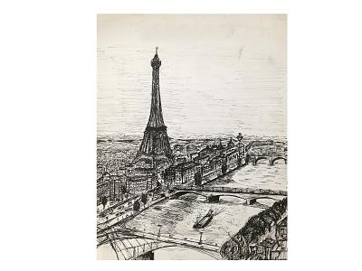 Paris eiffel tower sketchbook sketch pencil france architecture paris