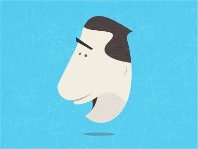Dude blue character illustration vector