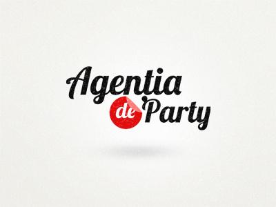 Agentia de Party logo identity orange