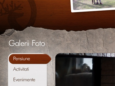 Winter Edition web website navigation