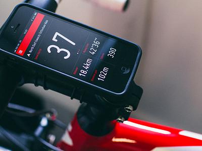 Cycling App ui ios app iphone cycling sport monitor
