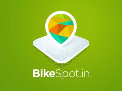 BikeSpot.in logo identity icon green