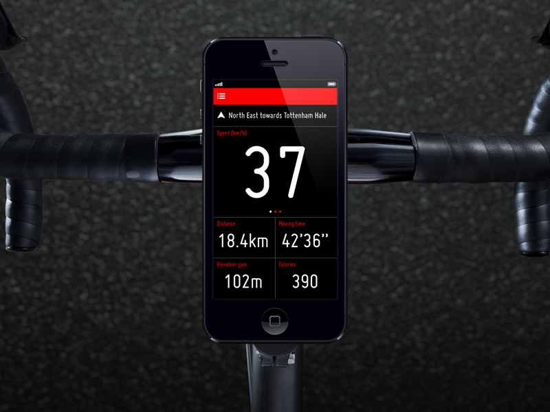 Cyclee ui app cycling ios iphone monitor sport