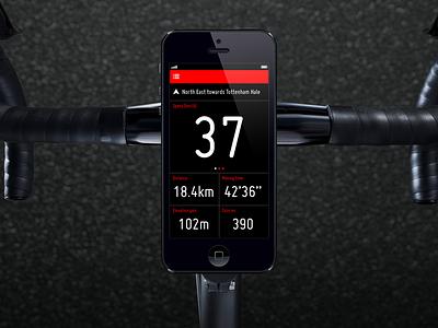 Cyclee ui app cycling ios iphone monitor sport