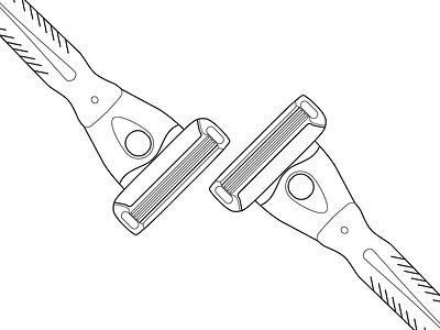 Shavekit Illustration illustration vector razor simple flat